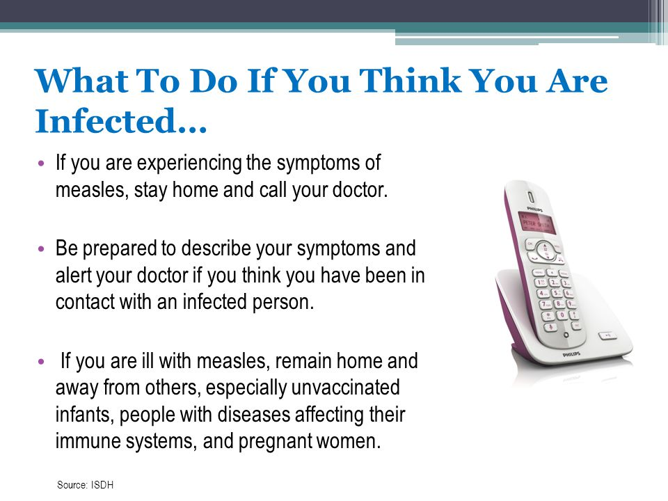 What To Do If You Think You Are Infected…