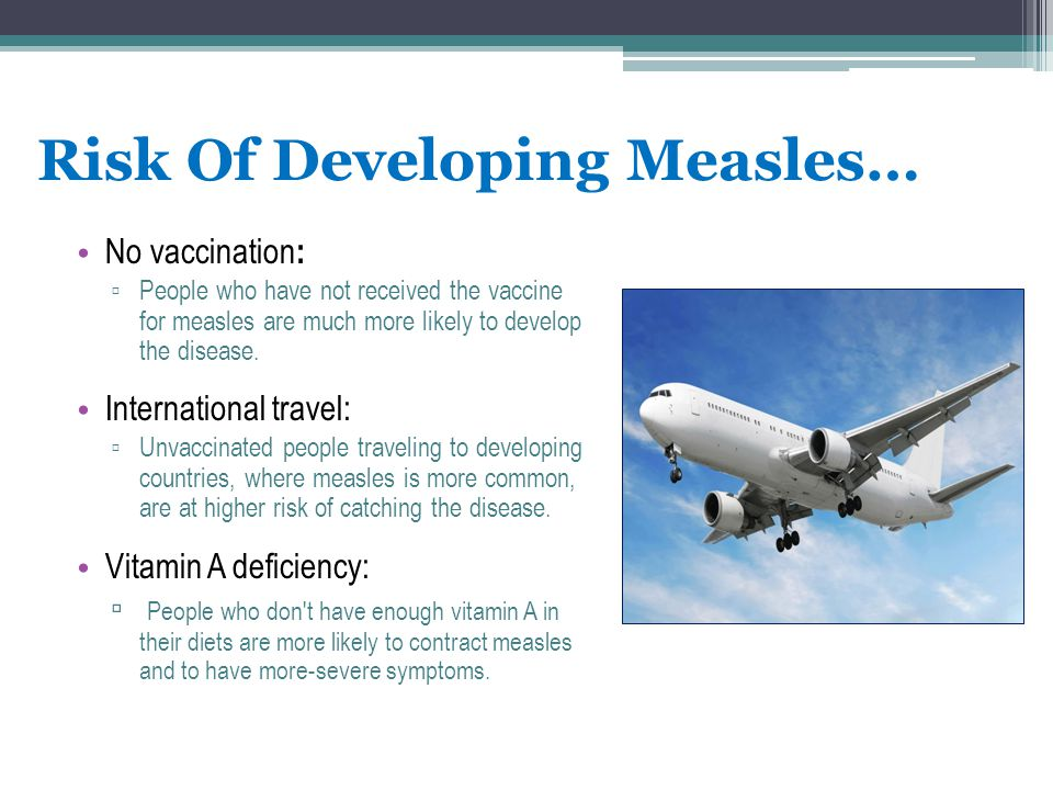 Risk Of Developing Measles…