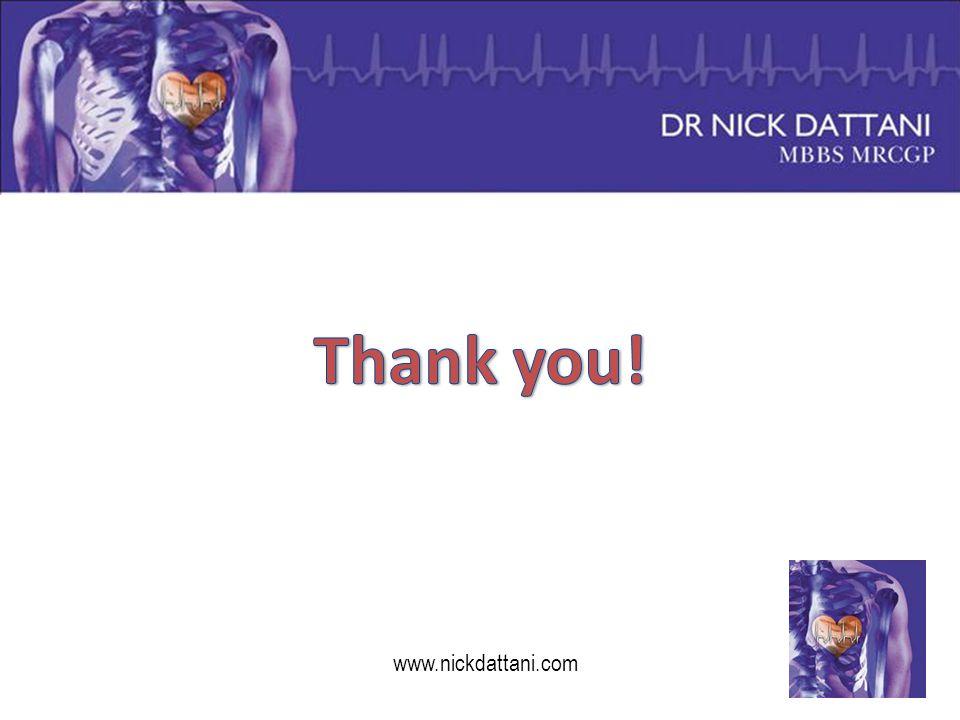Thank you! www.nickdattani.com