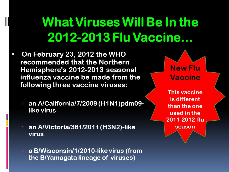 What Viruses Will Be In the 2012-2013 Flu Vaccine…