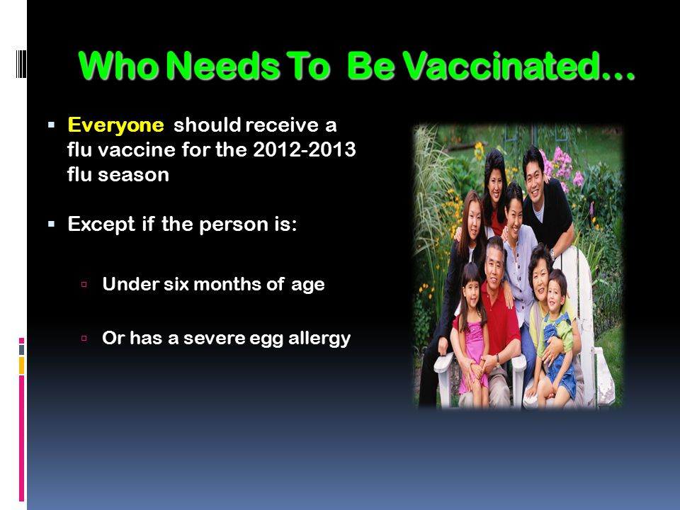 Who Needs To Be Vaccinated…