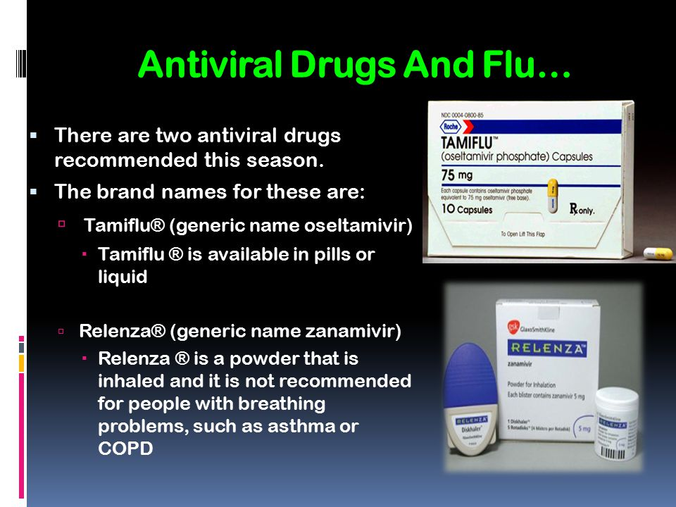 Antiviral Drugs And Flu…