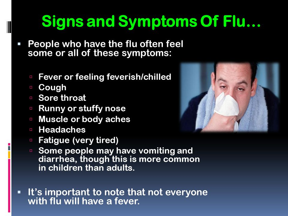 Signs and Symptoms Of Flu…