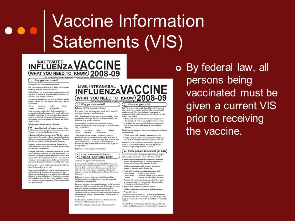 Vaccine Information Statements (VIS)