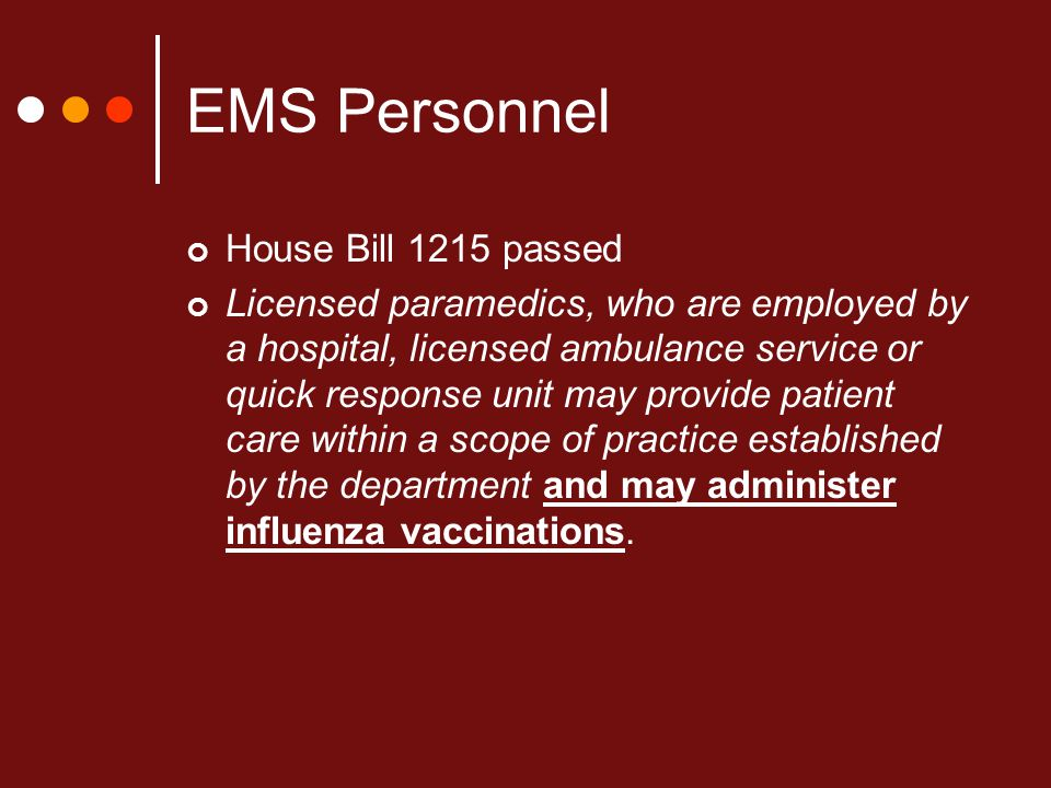 EMS Personnel House Bill 1215 passed