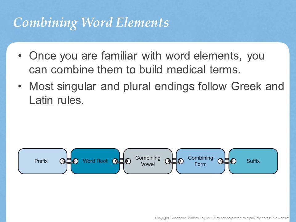 Combining Word Elements