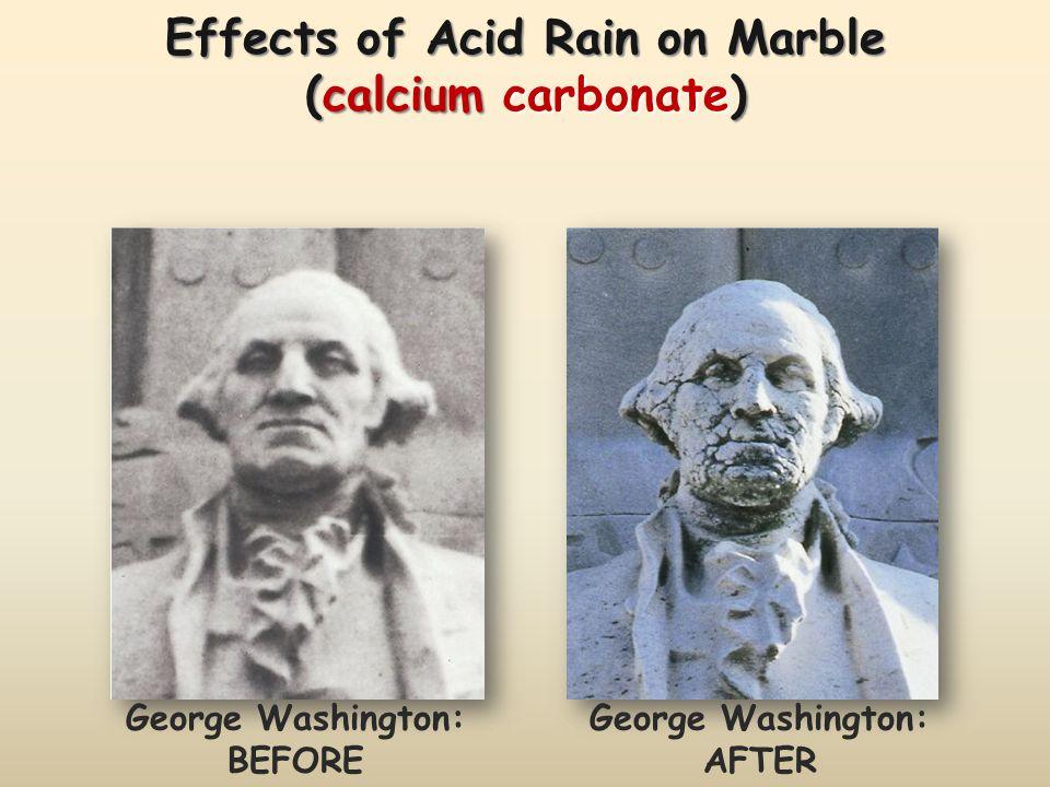Effects of Acid Rain on Marble (calcium carbonate)