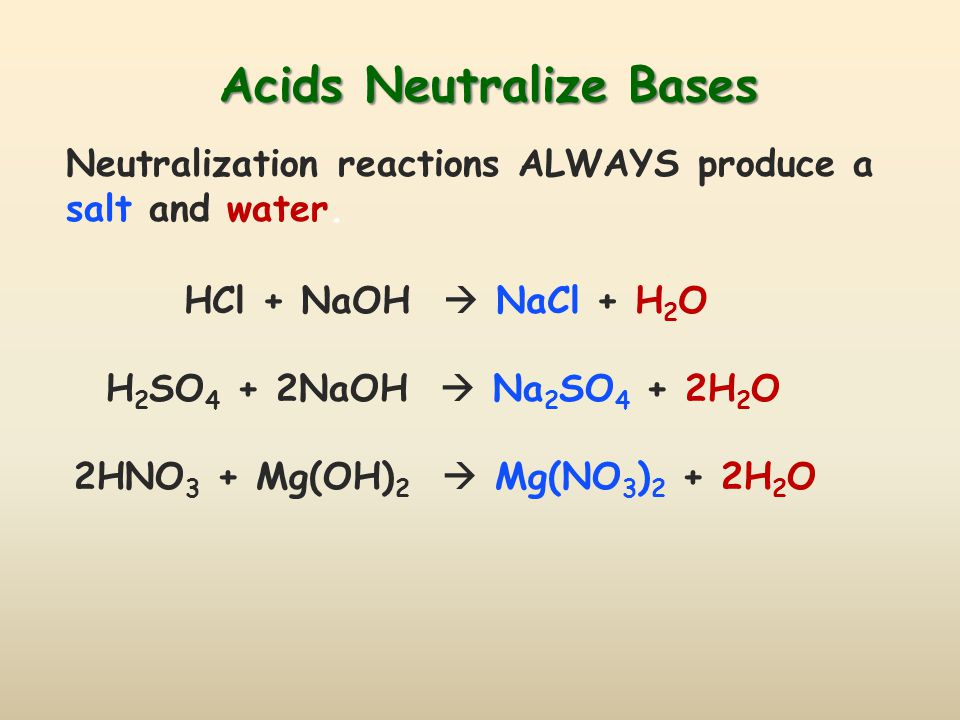 Acids Neutralize Bases
