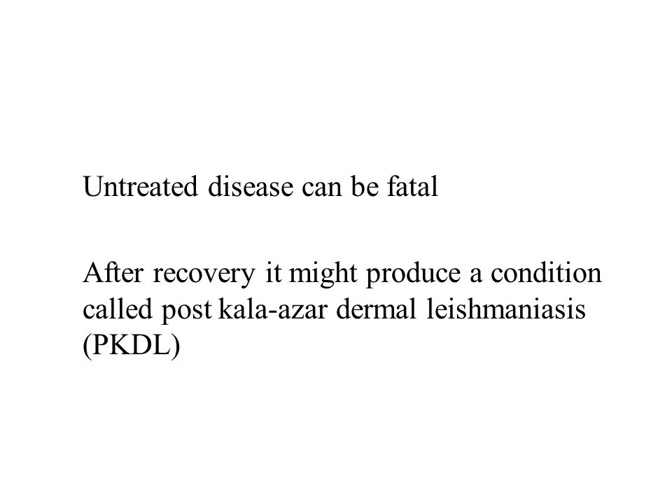 Untreated disease can be fatal