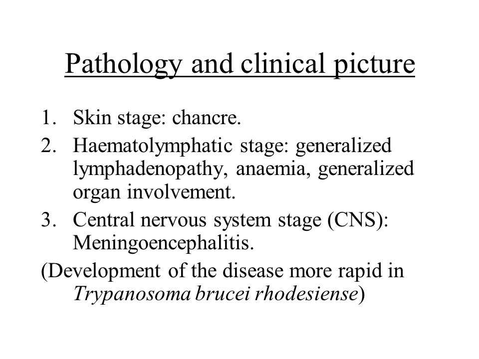 Pathology and clinical picture