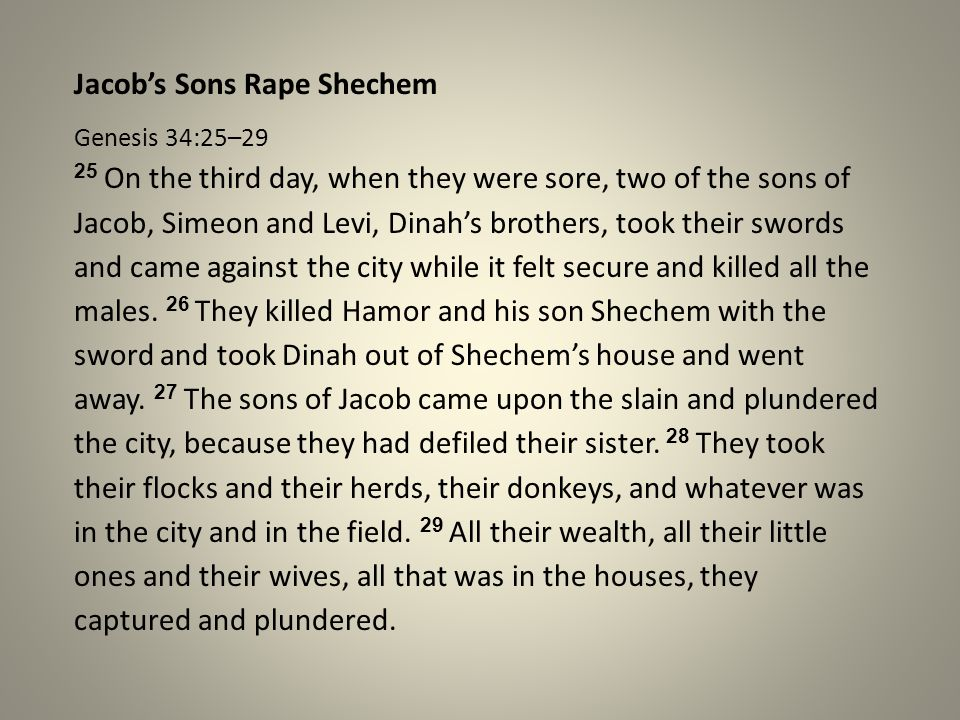 Jacob's Sons Rape Shechem