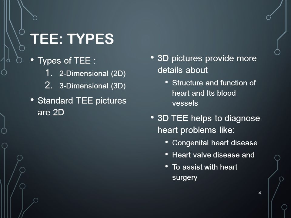 TEE: Types 3D pictures provide more details about Types of TEE :