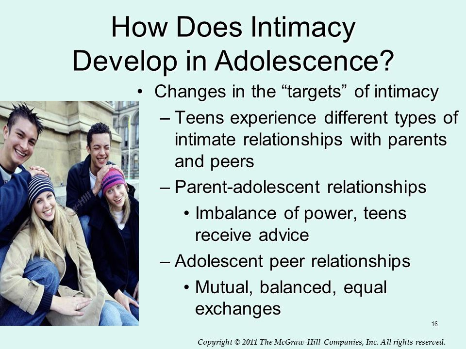 How Does Intimacy Develop in Adolescence