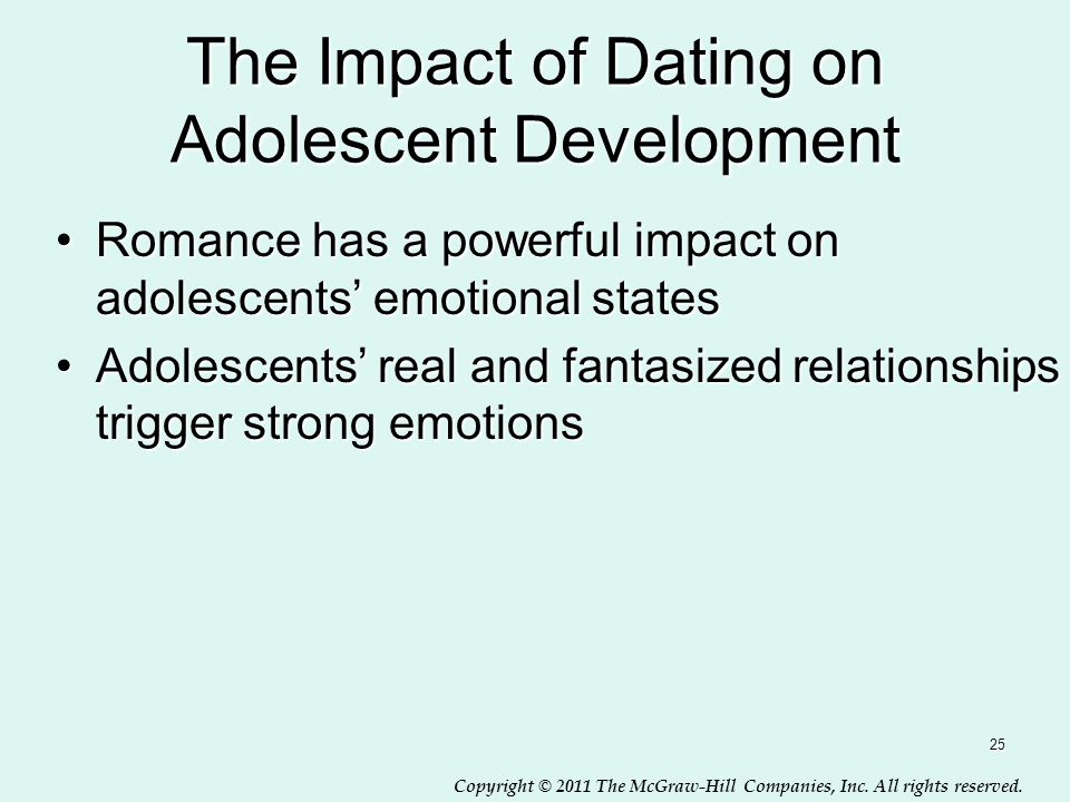 The Impact of Dating on Adolescent Development