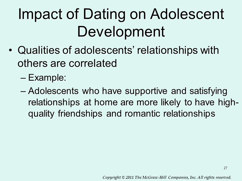 Impact of Dating on Adolescent Development
