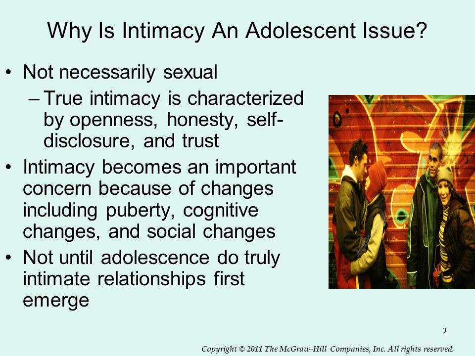 Why Is Intimacy An Adolescent Issue