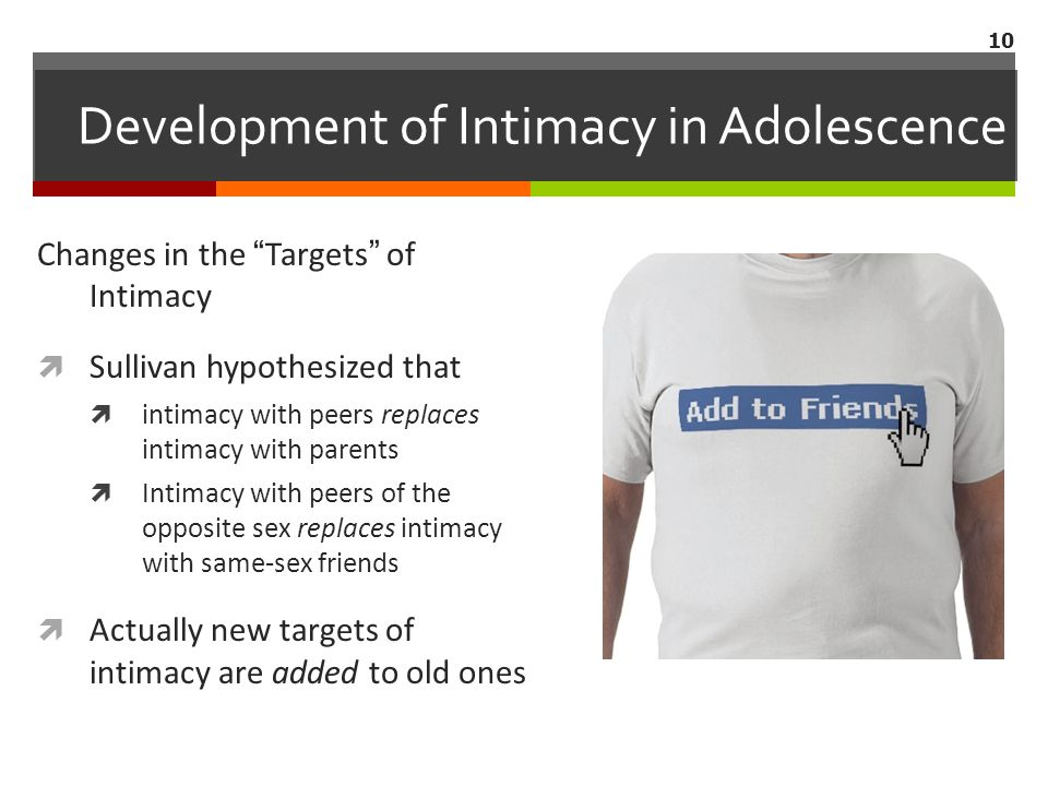 Development of Intimacy in Adolescence