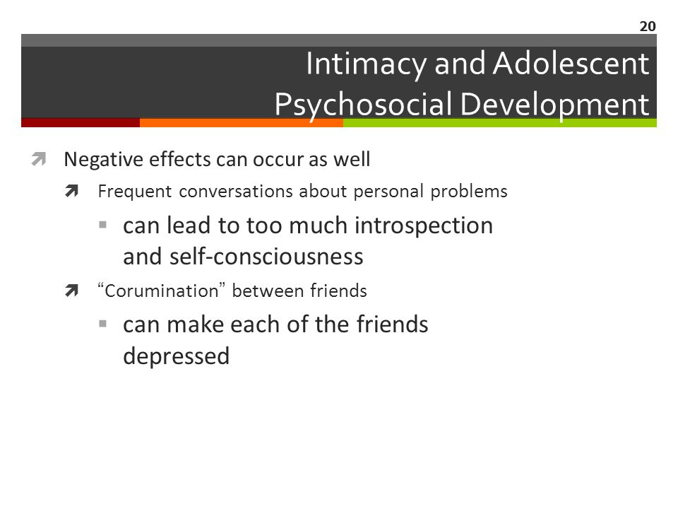 Intimacy and Adolescent Psychosocial Development
