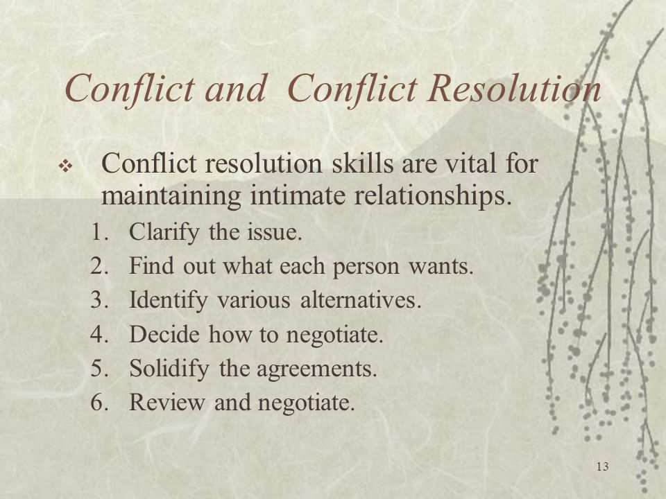 Conflict and Conflict Resolution