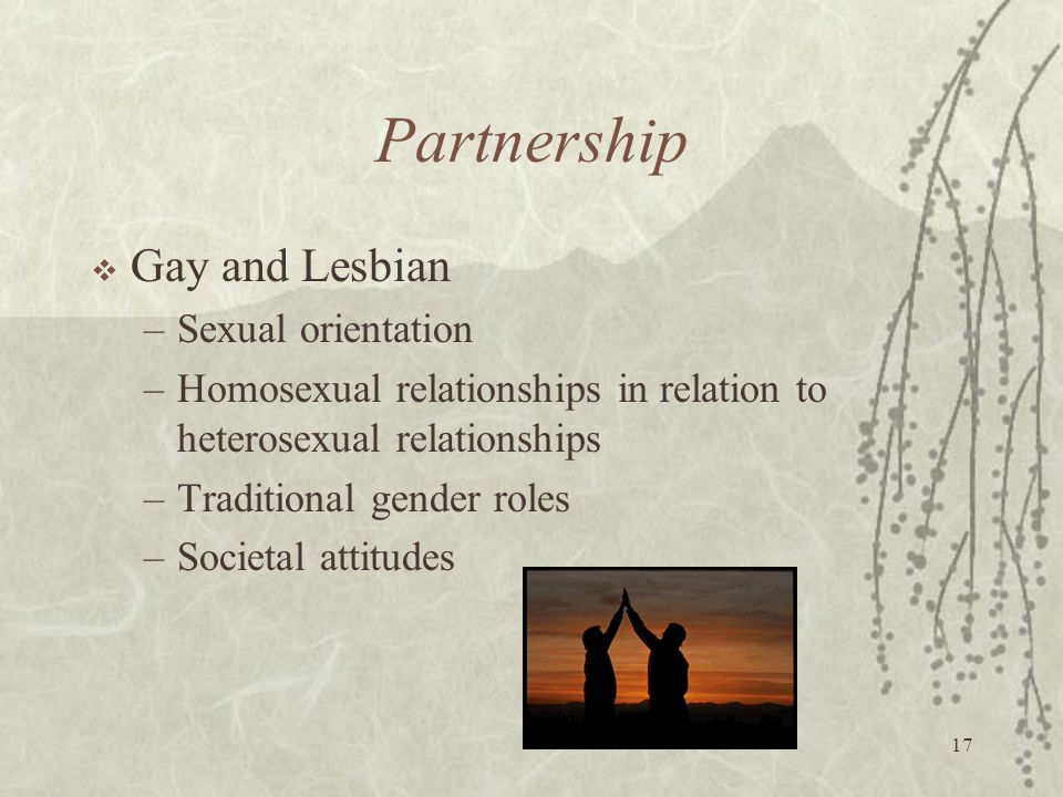 Partnership Gay and Lesbian Sexual orientation