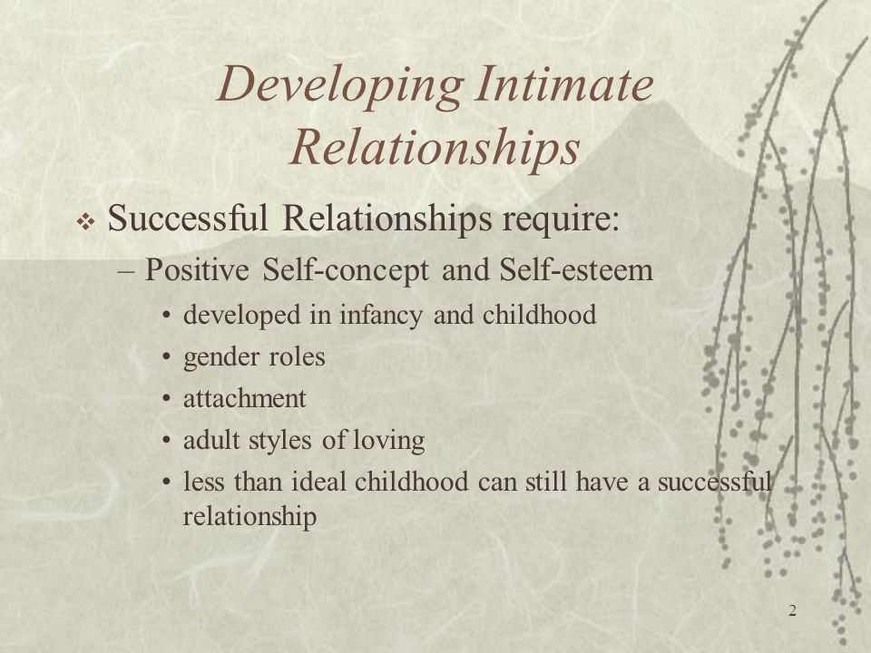 Developing Intimate Relationships