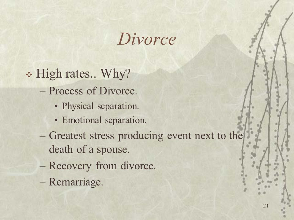 Divorce High rates.. Why Process of Divorce.