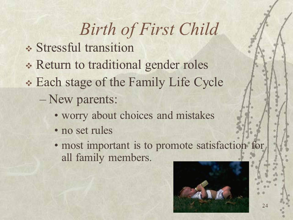 Birth of First Child Stressful transition