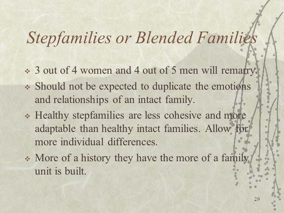 Stepfamilies or Blended Families