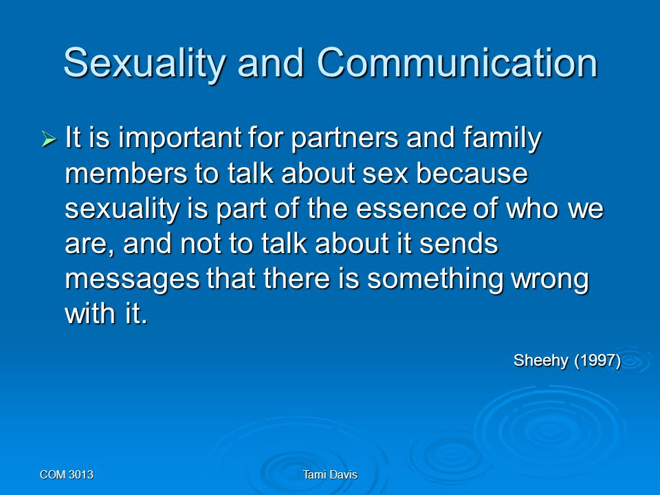 Sexuality and Communication