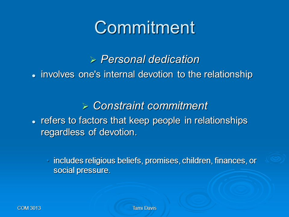 Constraint commitment