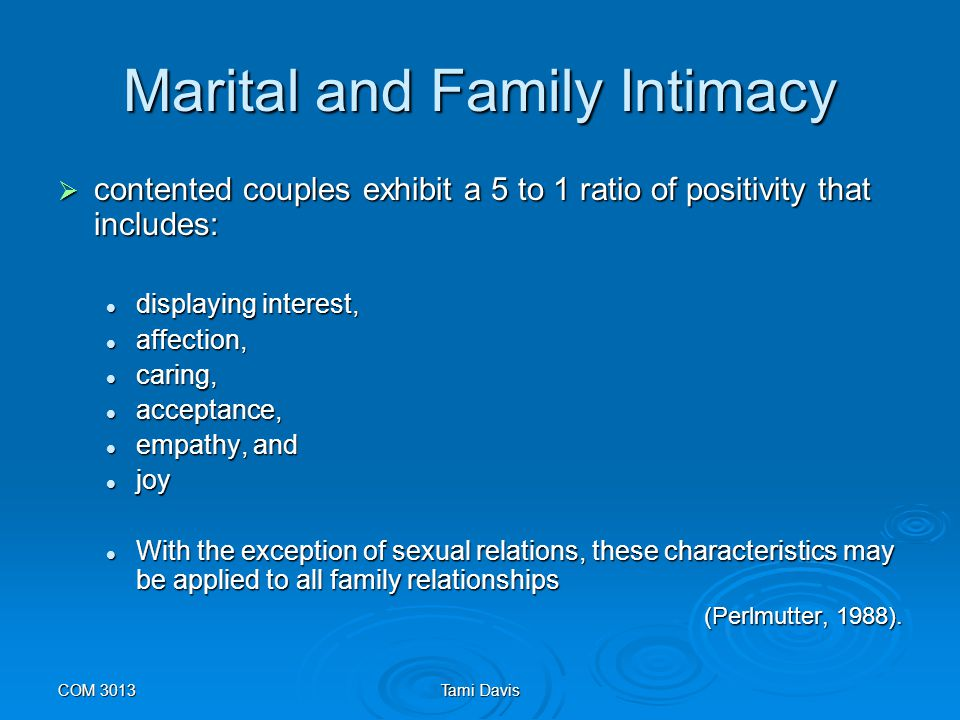 Marital and Family Intimacy