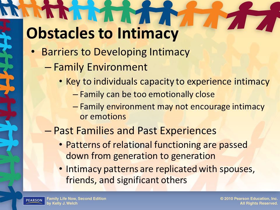 Obstacles to Intimacy Barriers to Developing Intimacy