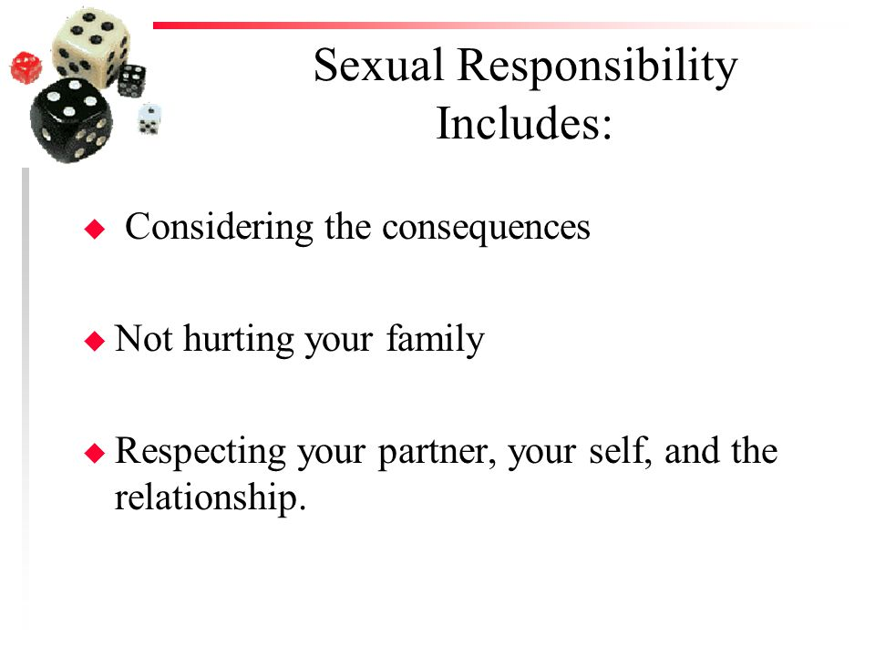Sexual Responsibility Includes: