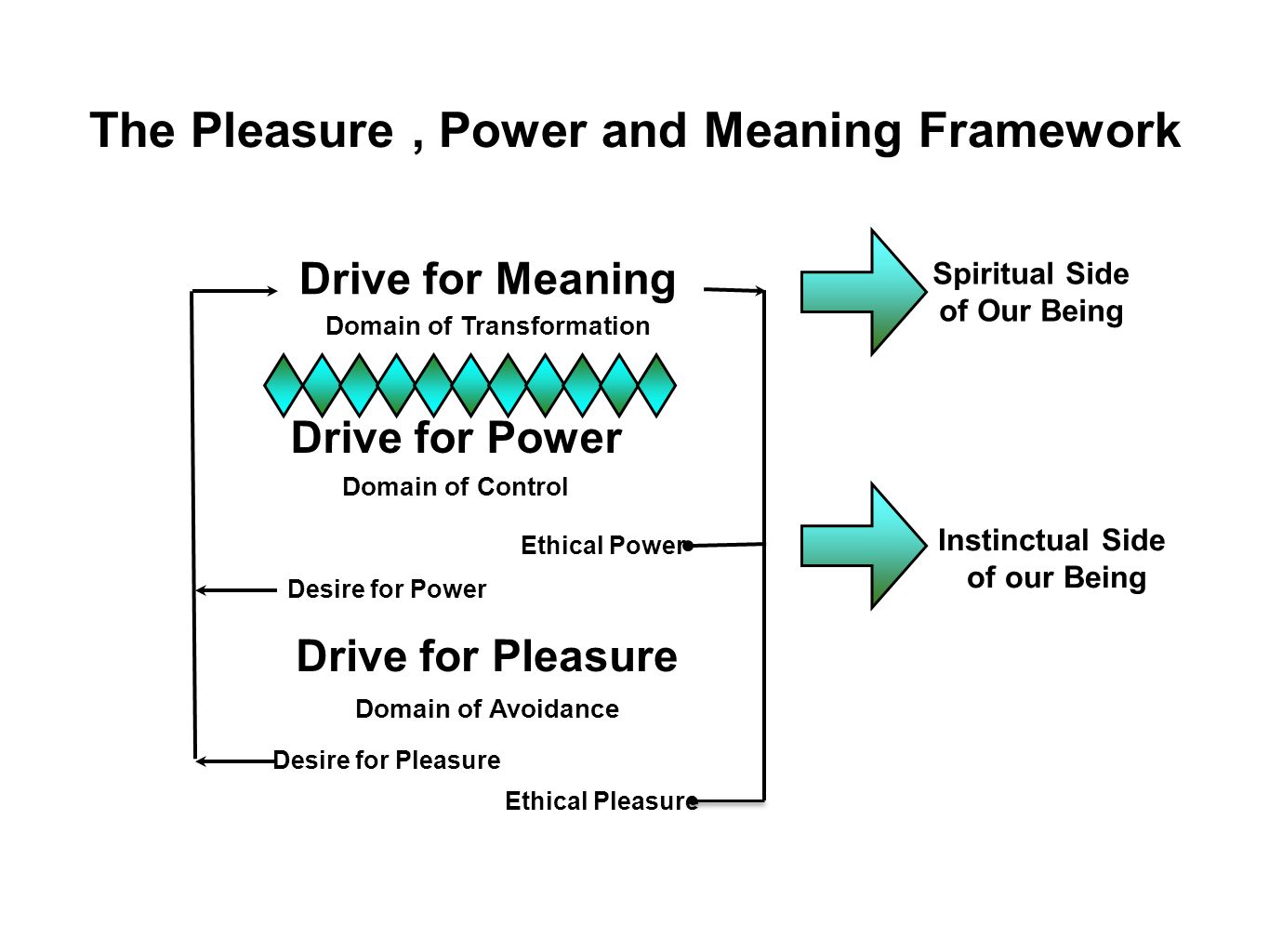 The Pleasure , Power and Meaning Framework Domain of Transformation