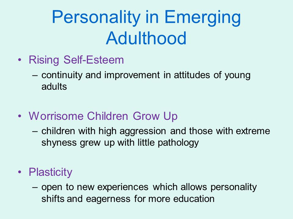 Personality in Emerging Adulthood