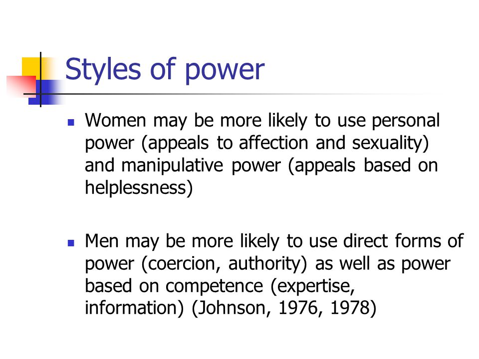 Styles of power
