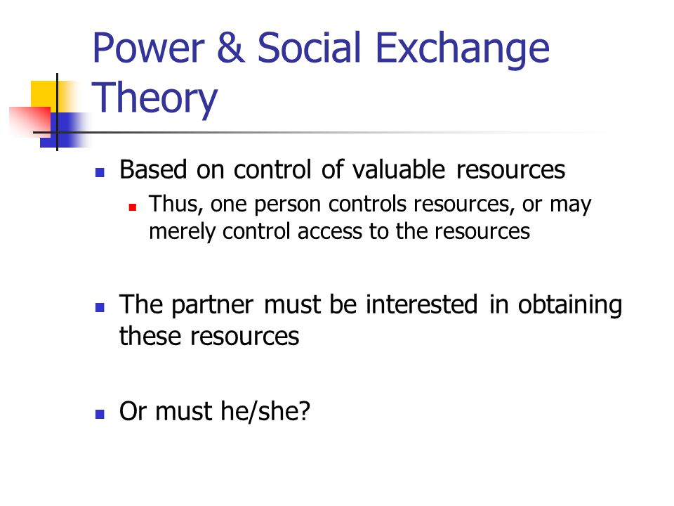 Power & Social Exchange Theory