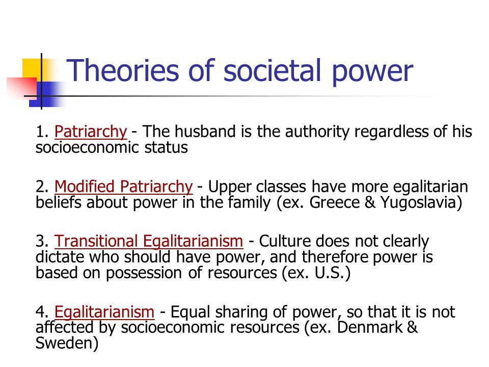 Theories of societal power