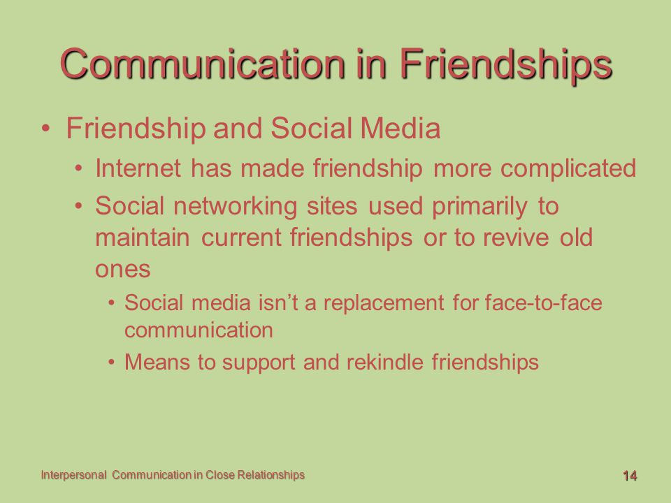 Communication in Friendships