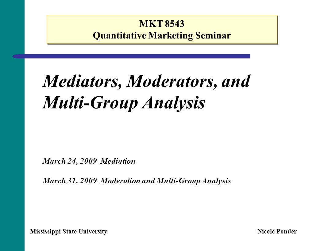 Quantitative Marketing Seminar