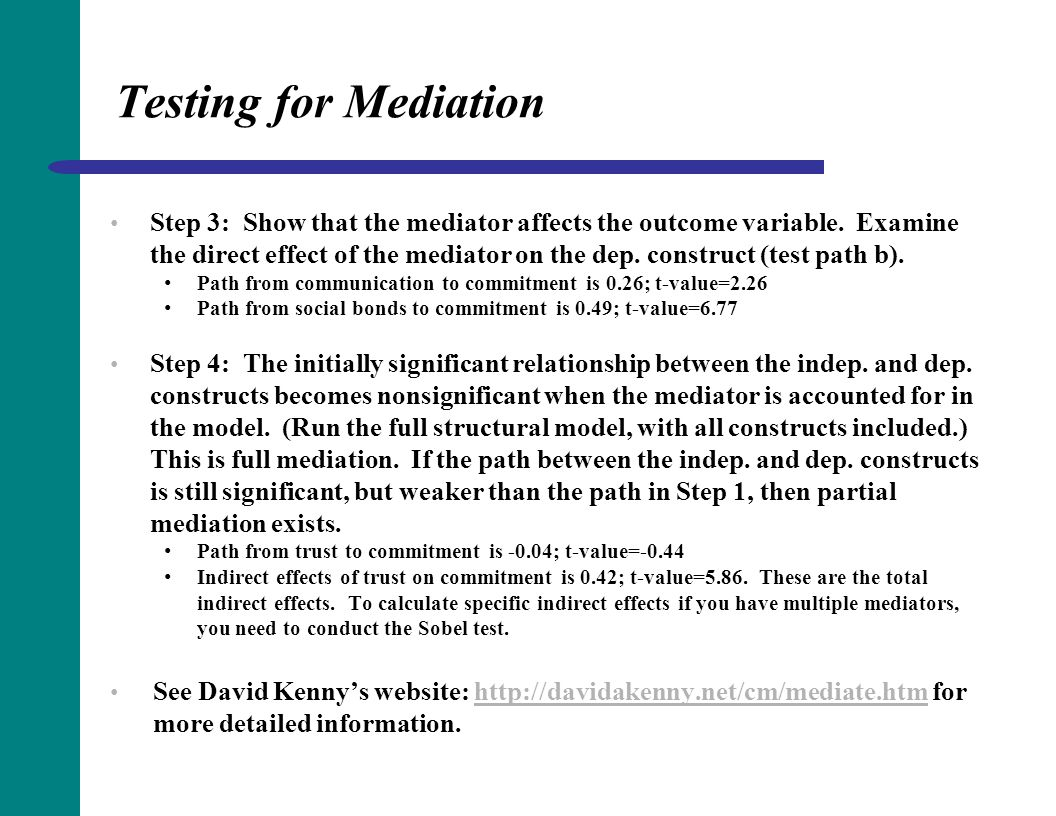 Testing for Mediation