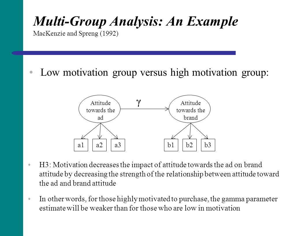 Multi-Group Analysis: An Example MacKenzie and Spreng (1992)