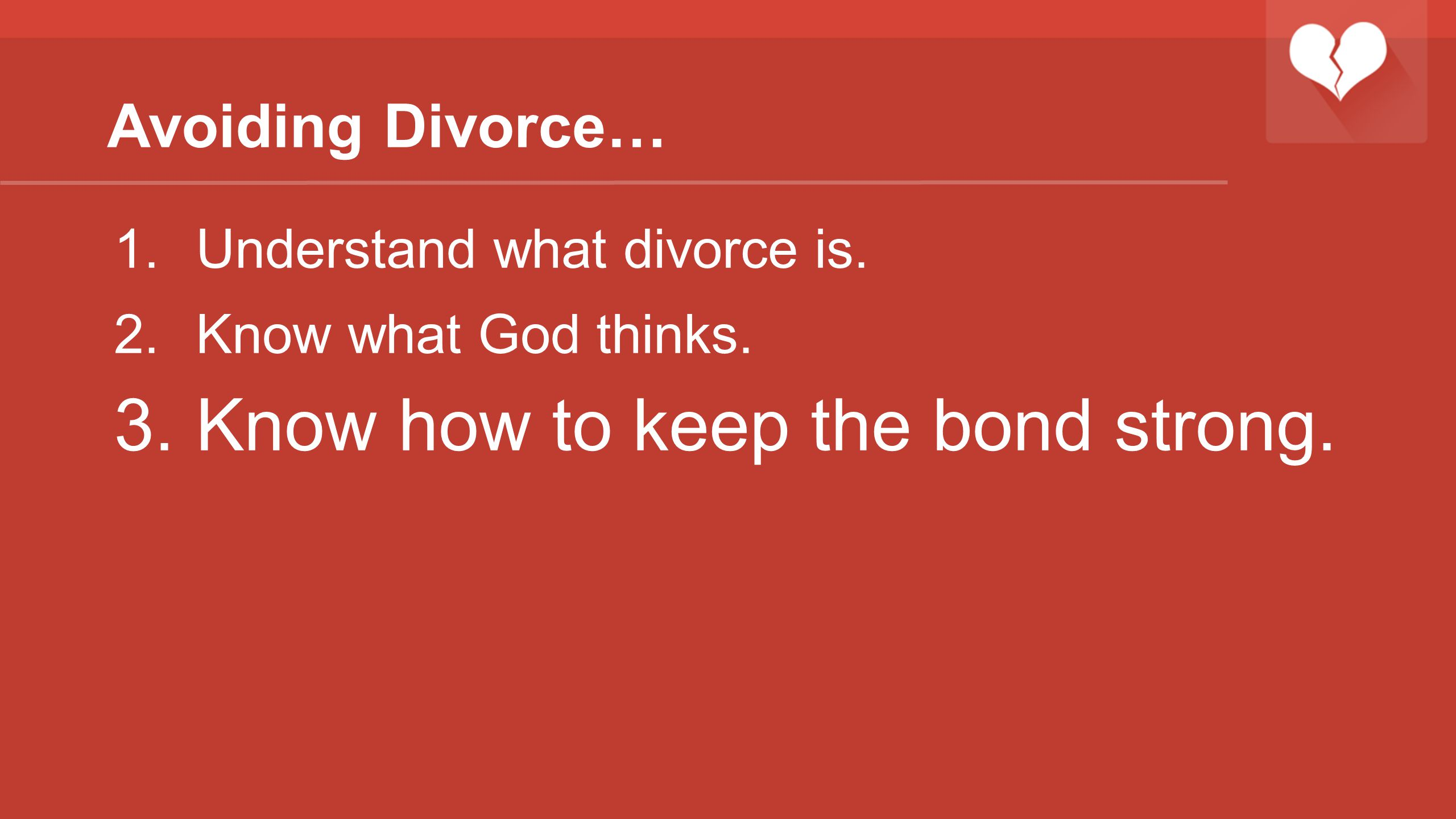 Know how to keep the bond strong.