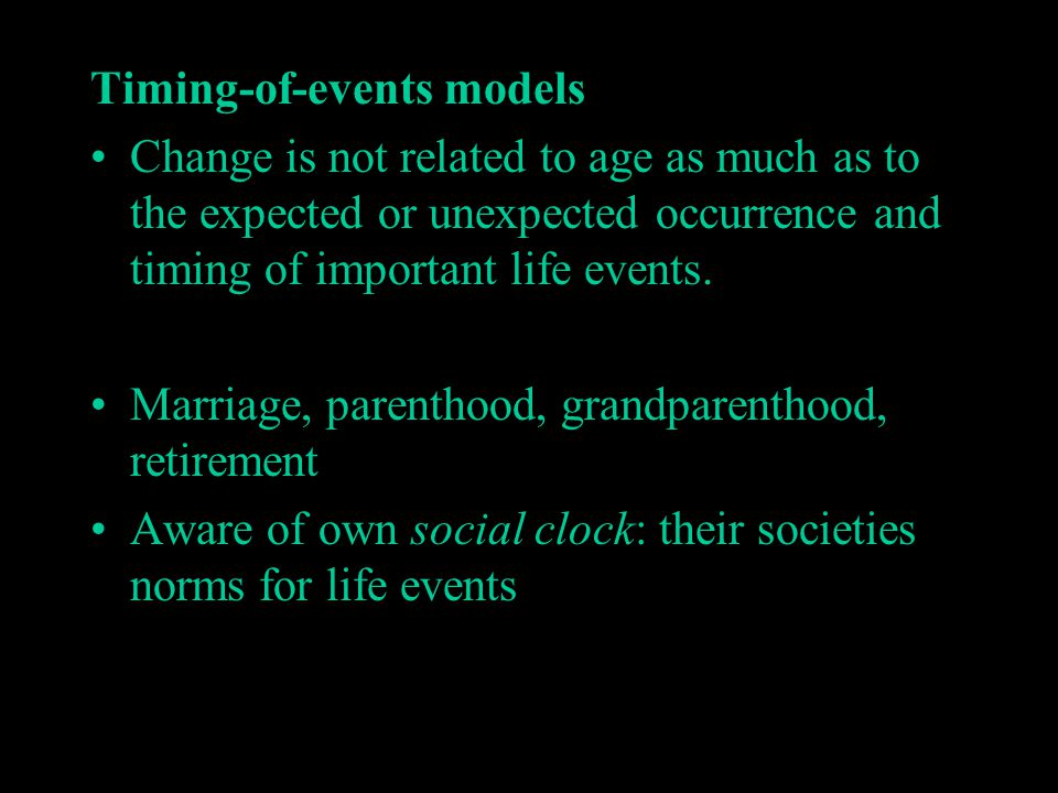 Timing-of-events models