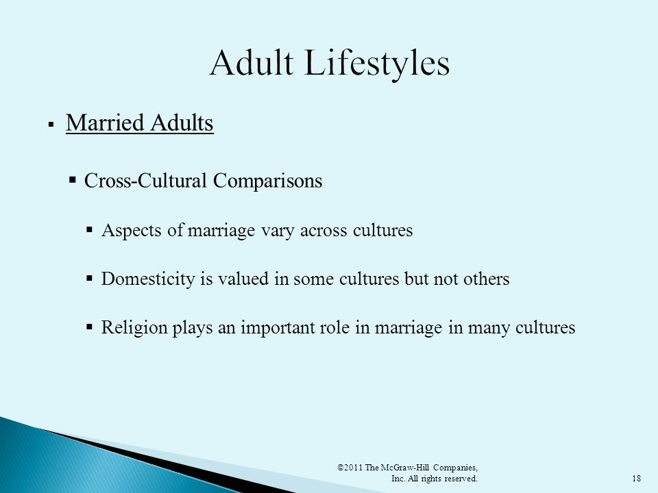 Adult Lifestyles Married Adults Cross-Cultural Comparisons