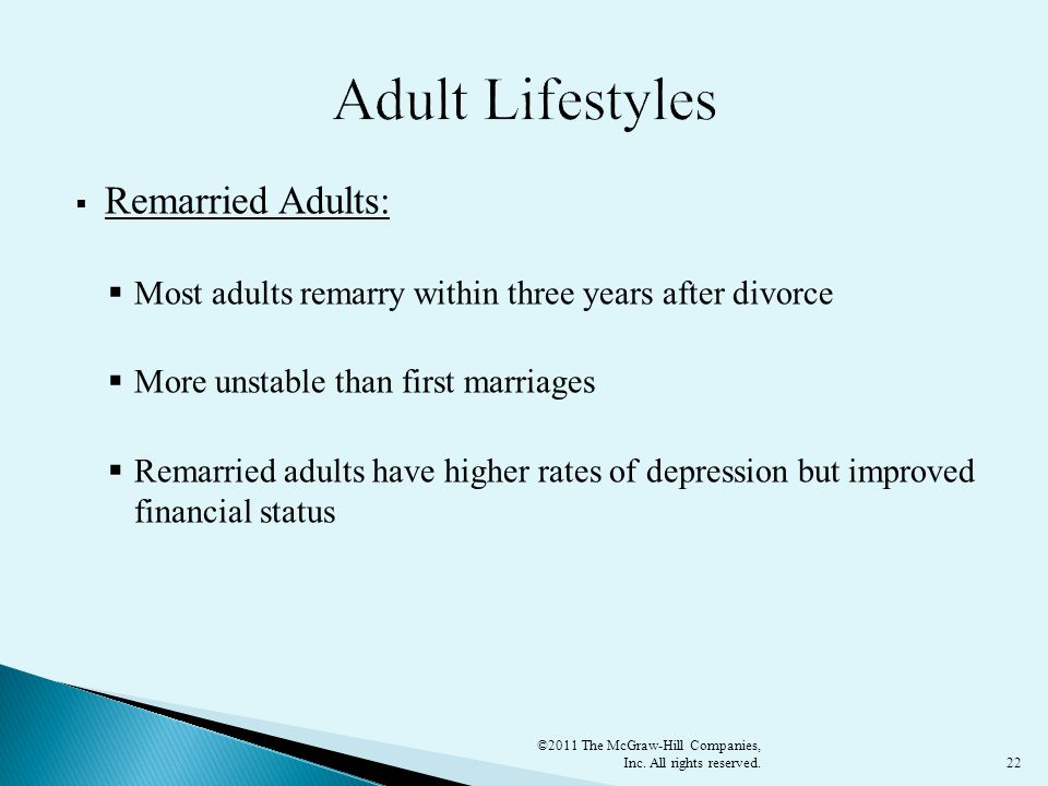 Adult Lifestyles Remarried Adults: