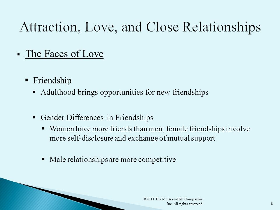 Attraction, Love, and Close Relationships