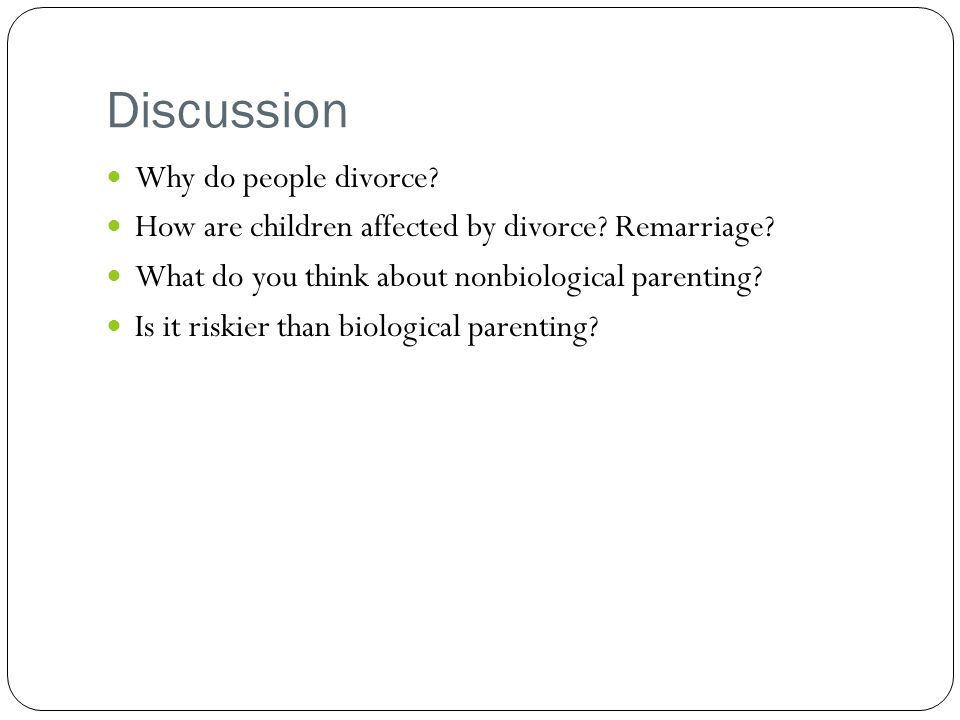 Discussion Why do people divorce