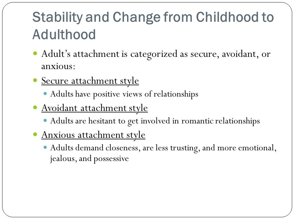 adult attachment styles and romantic relationships