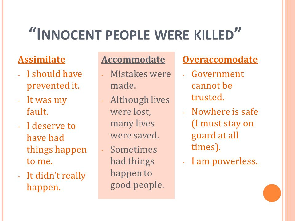 Innocent people were killed